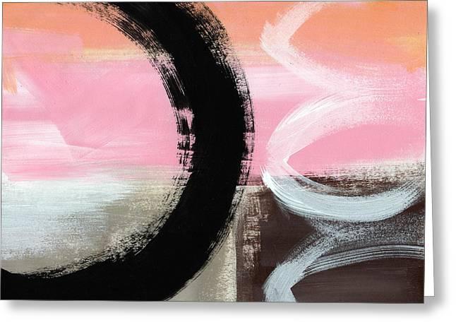 Pink Bedroom Greeting Cards - Neapolitan 3 - Abstract Painting Greeting Card by Linda Woods