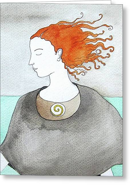 Near The Sea Greeting Card by Clary Sage Moon