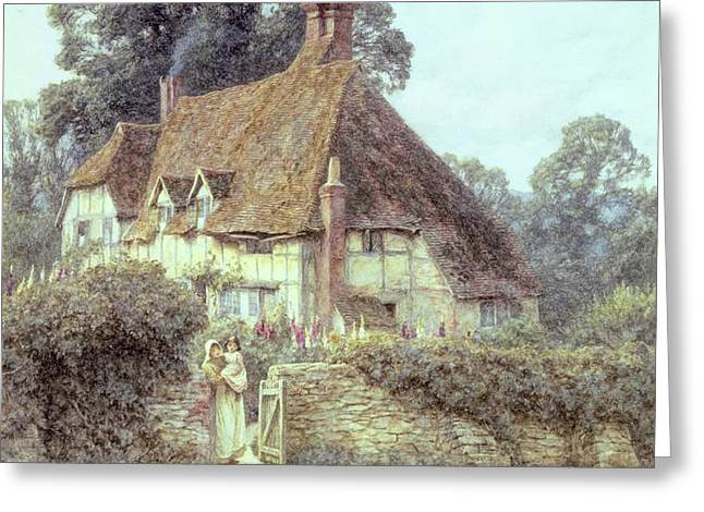 Near Witley Surrey Greeting Card by Helen Allingham