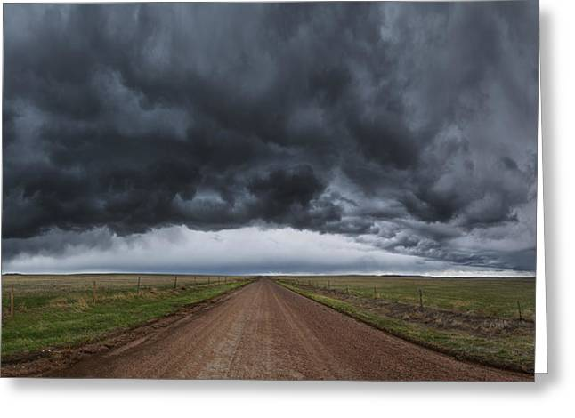 Storm Clouds Greeting Cards - Nebraska 19 Greeting Card by Darren  White