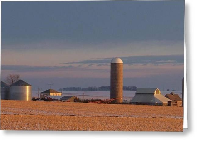 Farmlife Greeting Cards - Nebraska Farm Life.. Greeting Card by Al  Swasey