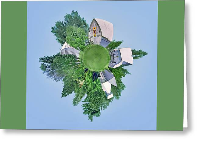 Nebraska Farm - Rural - Little Planet Greeting Card by Nikolyn McDonald