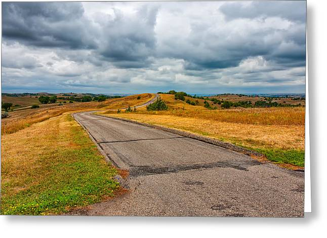 Scenic Drive Greeting Cards - Nebraska Landscape Greeting Card by John Bailey