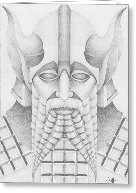 Babylonian Greeting Cards - Nebuchadezzar Greeting Card by Curtiss Shaffer