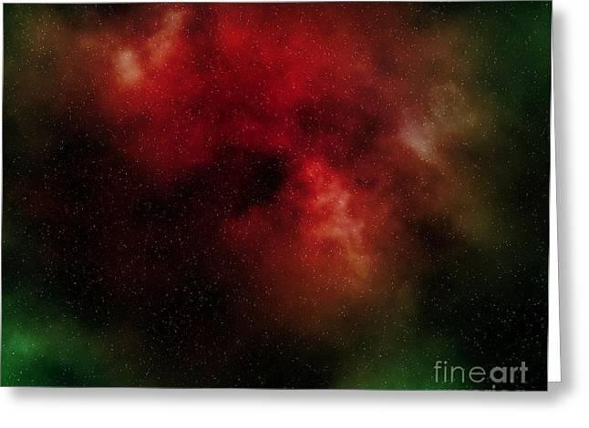 nebula Greeting Card by Michal Boubin