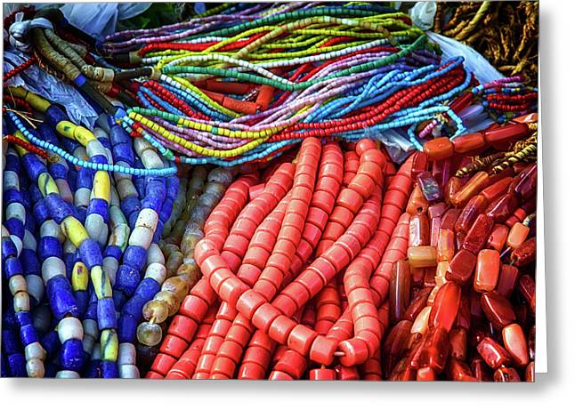 Necklaces And Beads Greeting Card by John Haldane