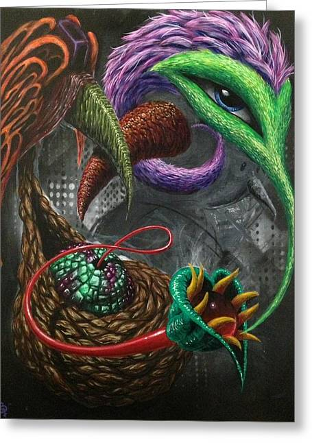 Hallucination Greeting Cards - Nectar Greeting Card by Eric Tresback