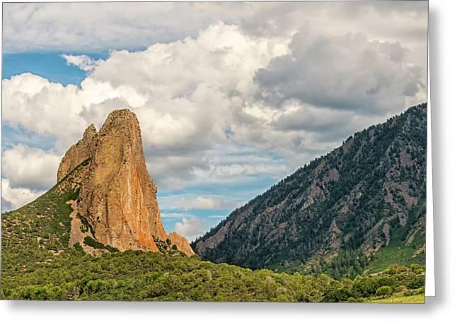 Needle Rock - Crawford Colorado Greeting Card by Loree Johnson