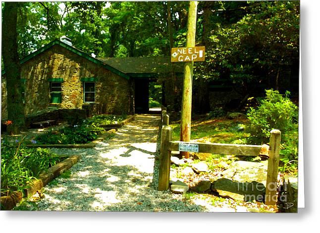 Americana Landscapes Greeting Cards - Neel Gap Appalachian Trail Greeting Card by David Lee Thompson