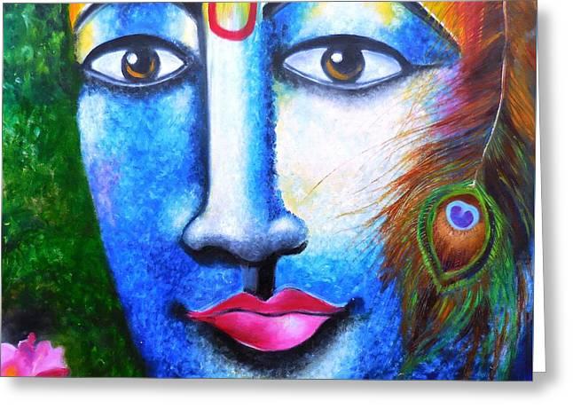 Neela Madhava Greeting Card by Tejaswani  Sharma