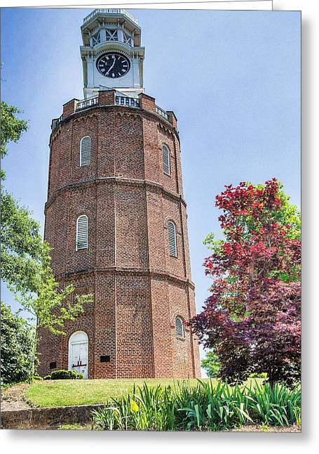 Neely Greeting Cards - Neely Hill Clock Tower Greeting Card by Dennis  Baswell