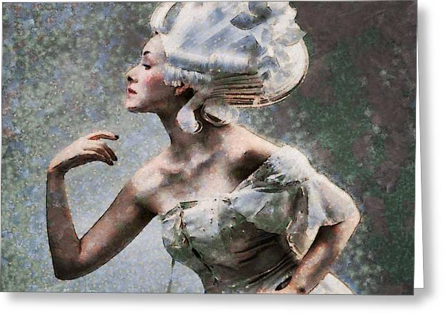 Nefertiti Style Hair Greeting Card by Leonardo Digenio