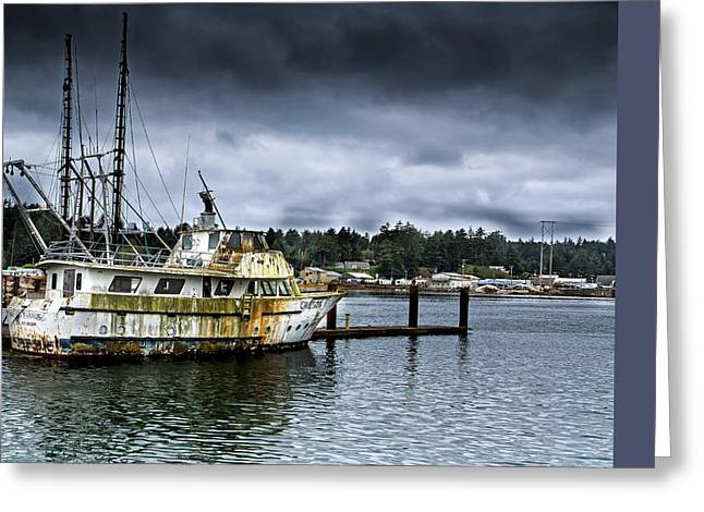 Foggy Ocean Greeting Cards - Neglected Greeting Card by Dennis Adams