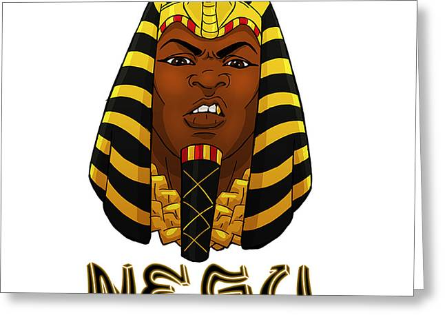 Horus Digital Art Greeting Cards - Negu Greeting Card by Respect the Queen