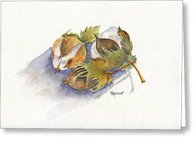 Boll Greeting Cards - Neighbor Dons Cotton Bolls Greeting Card by Marsha Elliott