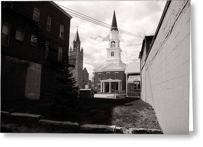 Concord Greeting Cards - Neighbors Concord New Hampshire Greeting Card by Tony  Westbrook
