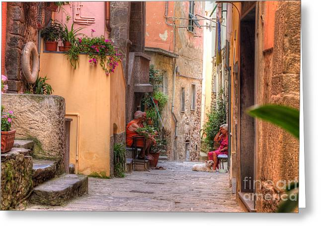 People Greeting Cards - Neighbors Greeting Card by Richard Mann