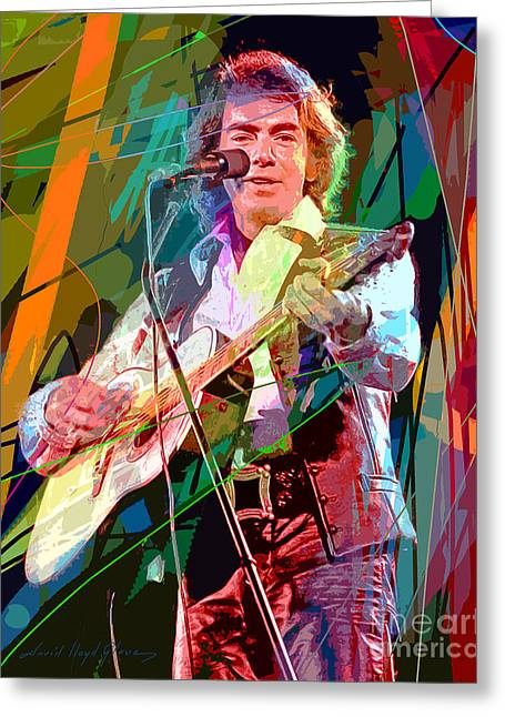 Greek Art Greeting Cards - Neil Diamond Hot August Night Greeting Card by David Lloyd Glover