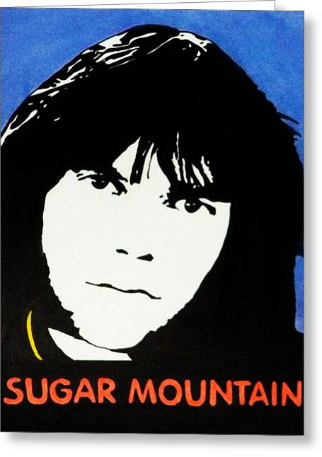 Neil Young Sugar Mountain Greeting Card by Kenneth Regan