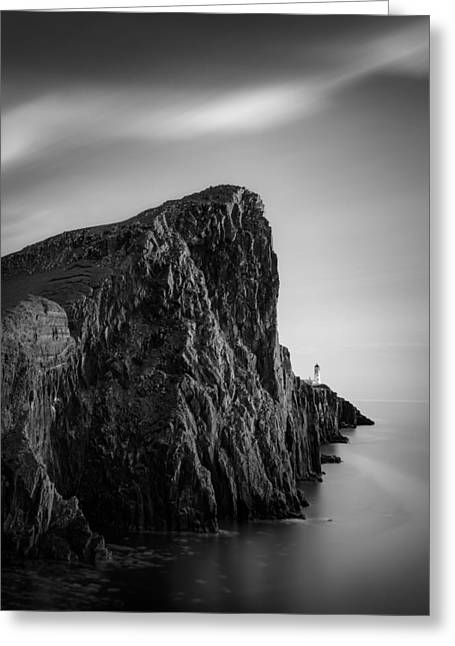 Neist Point Lighthouse Greeting Card by Dave Bowman