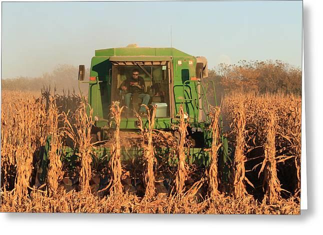 Nemaha Nebraska Corn Picker Greeting Card by J Laughlin