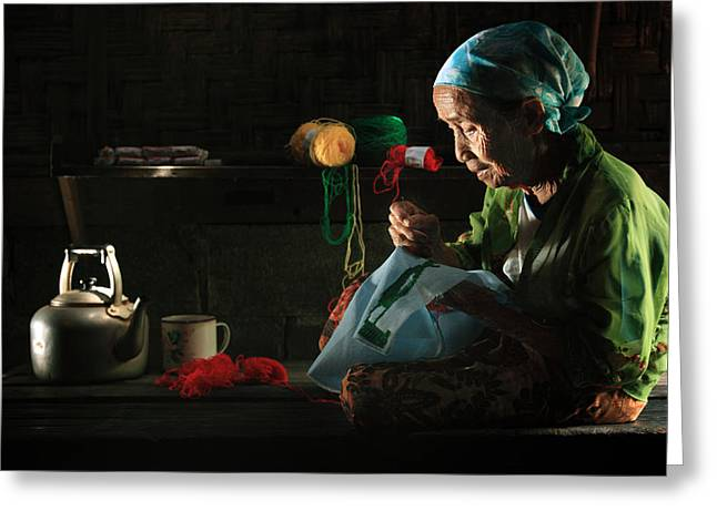 Mug Greeting Cards - Nenek Greeting Card by Andre Arment