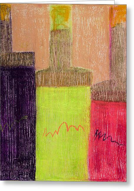 Glass Bottle Greeting Cards - Neon Bottles #1 Greeting Card by Diana Wade