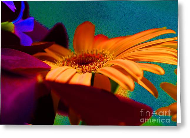Violet Blue Greeting Cards - Neon Daze Greeting Card by Joyce Hutchinson