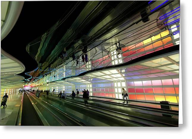 Neon Hall 2 Greeting Card by Sven Brogren