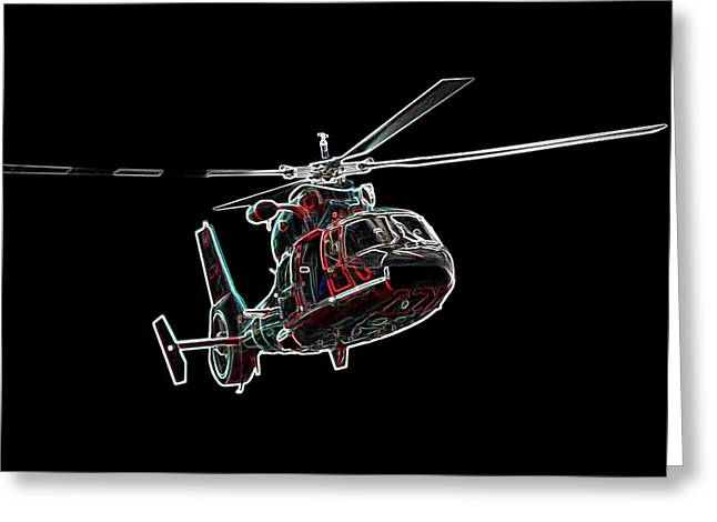 Helo Greeting Cards - Neon Helo - Digital Art Greeting Card by Al Powell Photography USA
