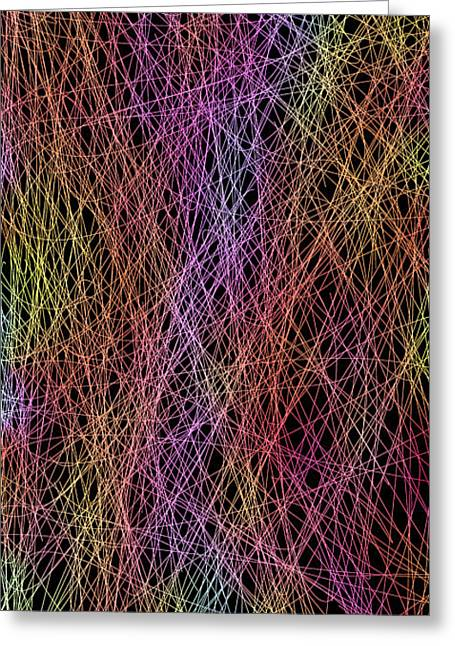 Neon Lines 1 Greeting Card by Chris Butler