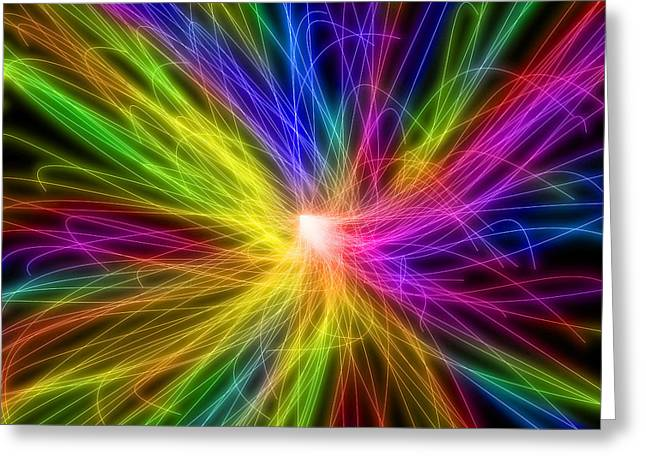 Neon Lines 2 Greeting Card by Chris Butler