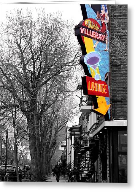 Montreal Diners Greeting Cards - Neon strip Greeting Card by Russell Styles