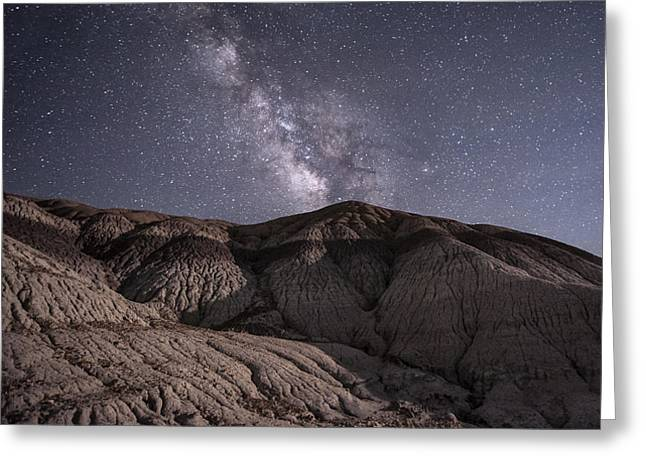 Petrified Forest National Park Greeting Cards - Neopolitan Milkyway Greeting Card by Melany Sarafis
