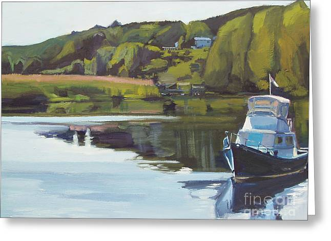 Neponset River Morning Greeting Card by Deb Putnam