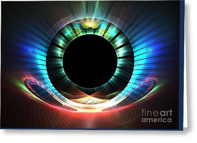 Geometric Art Greeting Cards - Neptune Horizon Greeting Card by Kim Sy Ok