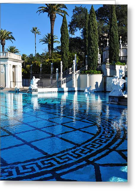 Coast Highway One Greeting Cards - Neptune Pool Hearst Castle II Greeting Card by Kyle Hanson