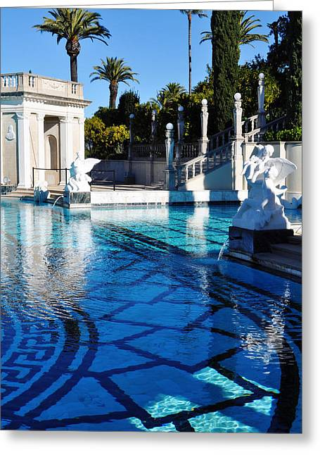 Coast Highway One Greeting Cards - Neptune Pool Hearst Castle Greeting Card by Kyle Hanson