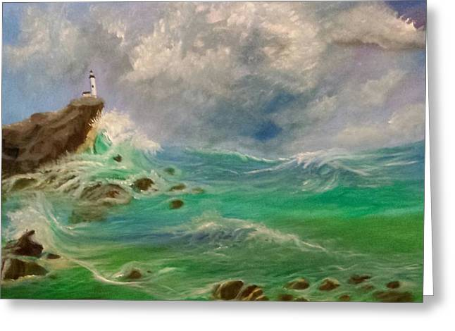 Licensor Greeting Cards - Neptunes Rage Greeting Card by Cindy Harvell