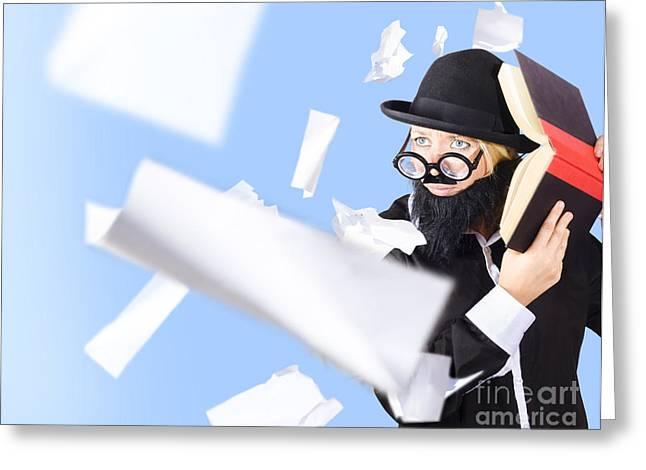 Nerd Businessman. Best Practise Marketing Advice Greeting Card by Jorgo Photography - Wall Art Gallery