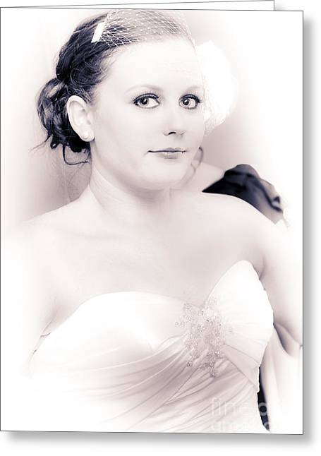 Nervous And Apprehensive Bride Getting Ready Greeting Card by Jorgo Photography - Wall Art Gallery