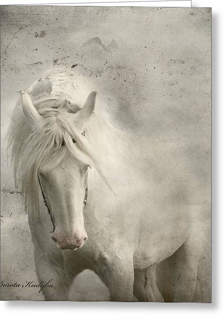 Gray Horse Greeting Cards - Nesting Time Greeting Card by Dorota Kudyba