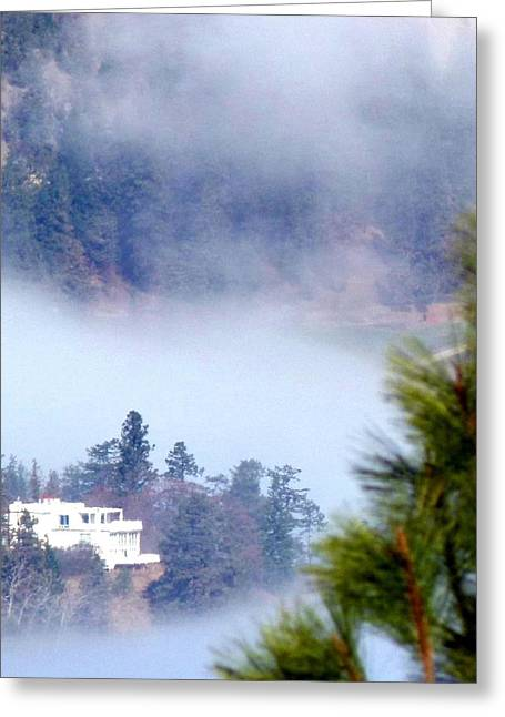 Intrigue Greeting Cards - Nestled In The Fog Greeting Card by Will Borden