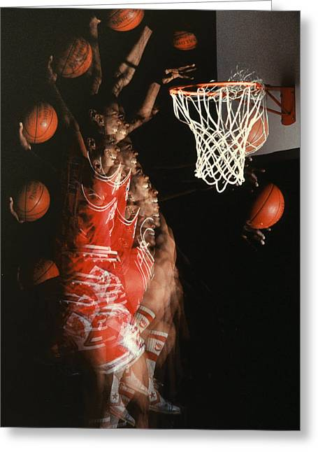 Basket Ball Game Greeting Cards - Net Fever Greeting Card by Gerard Fritz