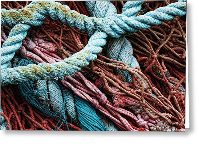nets and knots number six Greeting Card by Elena Nosyreva