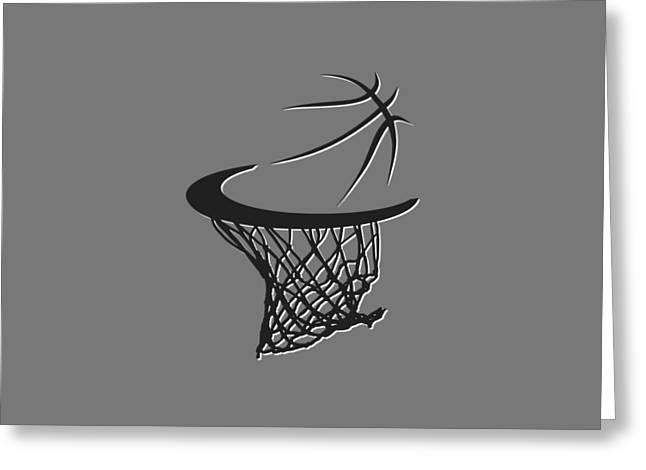 Net Greeting Cards - Nets Basketball Hoop Greeting Card by Joe Hamilton
