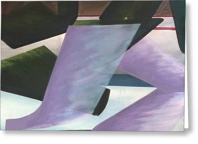 Hockey Paintings Greeting Cards - Netural Zone Play Greeting Card by Ken  Yackel