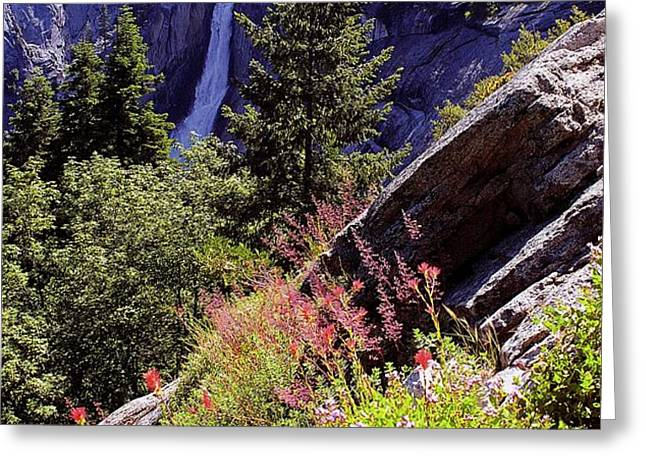 Nevada Falls Yosemite National Park Greeting Card by Alan Lenk