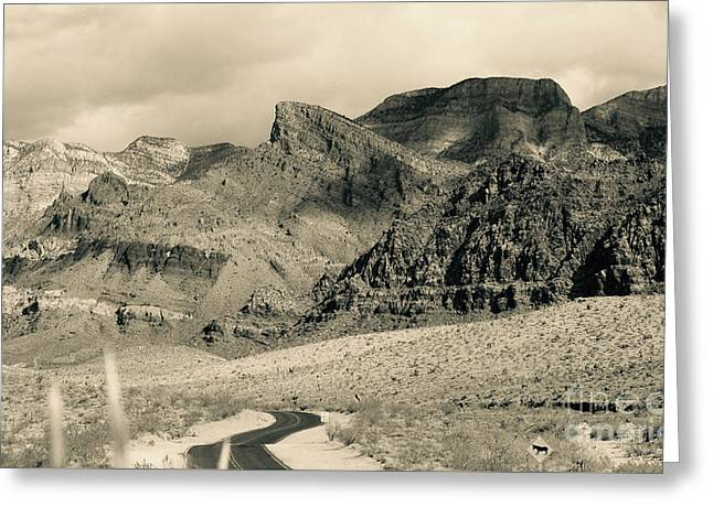 Mountain Road Greeting Cards - Road to the Mountains - Nevada Greeting Card by Jason Freedman