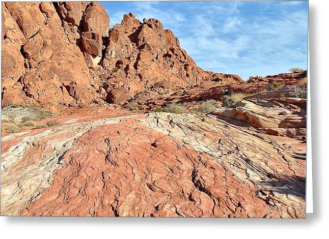 Colorful Cloud Formations Greeting Cards - Nevada Rocks 26 Greeting Card by John Hintz